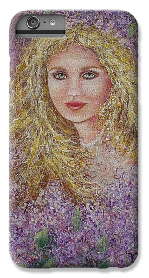 Portrait IPhone 6 Plus Case featuring the painting Natalie In Lilacs by Natalie Holland