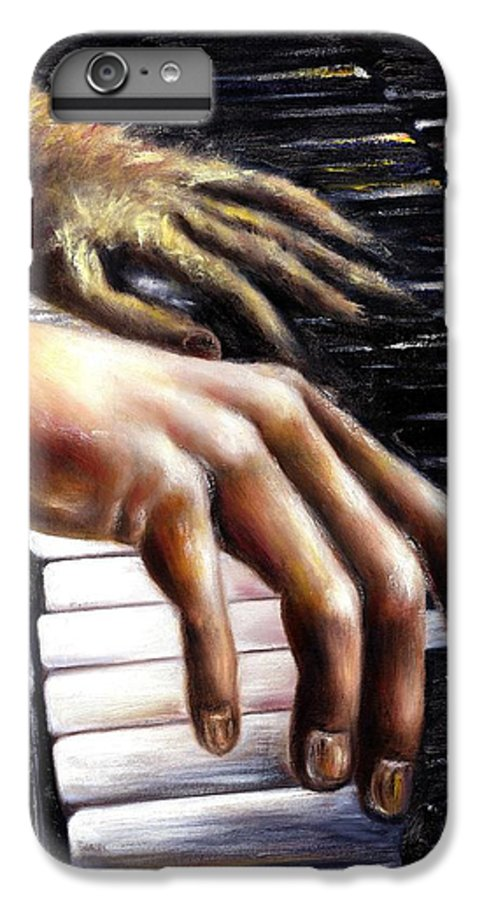Piano IPhone 6 Plus Case featuring the painting Nocturne by Hiroko Sakai