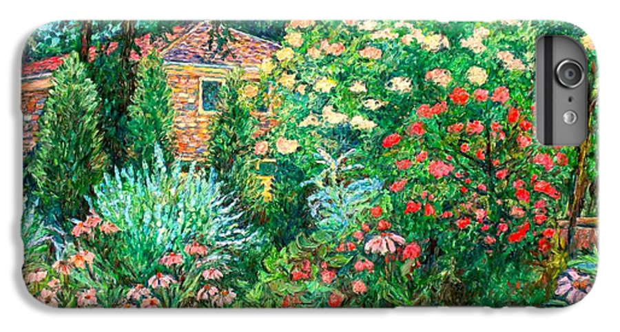 Garden IPhone 6 Plus Case featuring the painting North Albemarle In Mclean Va by Kendall Kessler