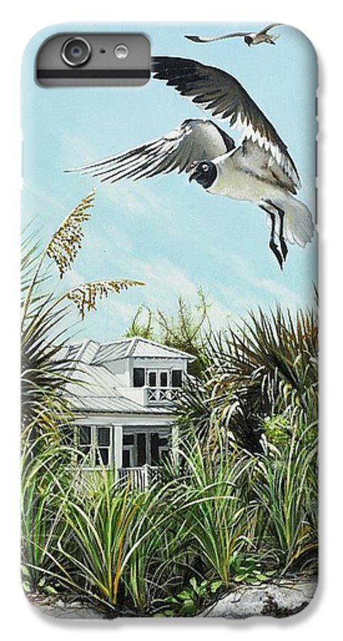 Bird IPhone 6 Plus Case featuring the painting North Shore Landing by Joan Garcia