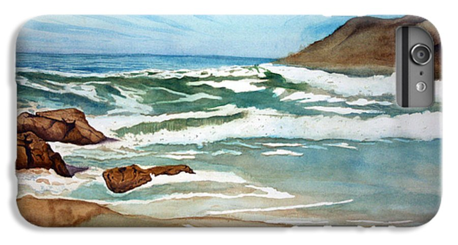 Rick Huotari IPhone 6 Plus Case featuring the painting Ocean Side by Rick Huotari