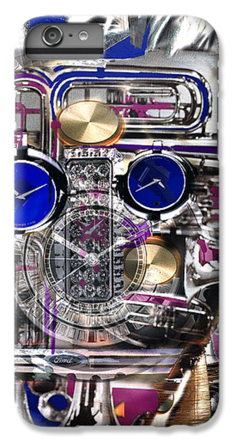 Robotic Time Traveller IPhone 6 Plus Case featuring the digital art Old Blue Eyes by Seth Weaver