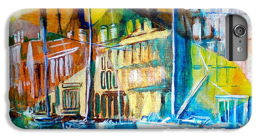Old World Street IPhone 6 Plus Case featuring the painting Old Copenhagen Thru Stained Glass by Seth Weaver