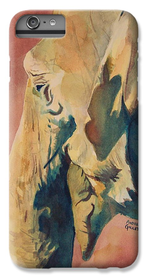 Elephant IPhone 6 Plus Case featuring the painting Old Elephant by Andrew Gillette