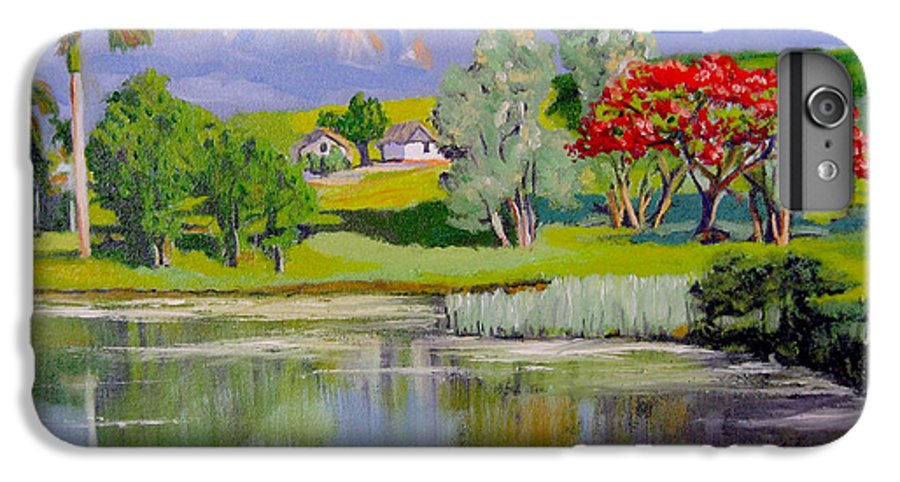 Oil IPhone 6 Plus Case featuring the painting Old Farm by Jose Manuel Abraham