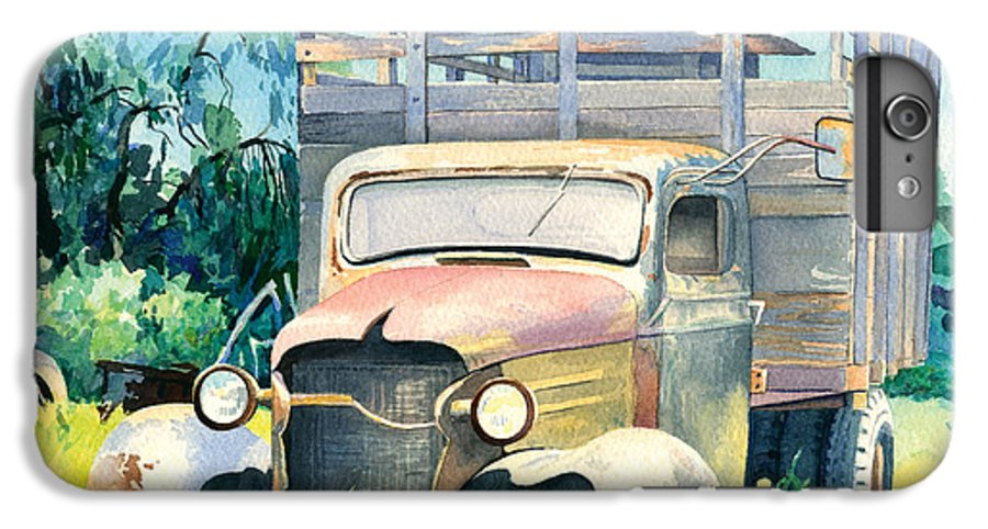 Water Color IPhone 6 Plus Case featuring the painting Old Kula Truck by Don Jusko
