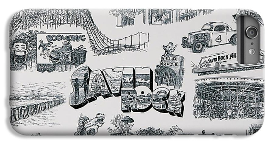 Savin Rock Amusement Park New England Historical Poster West Haven Carnival IPhone 6 Plus Case featuring the painting Old Savin Rock by Tony Ruggiero