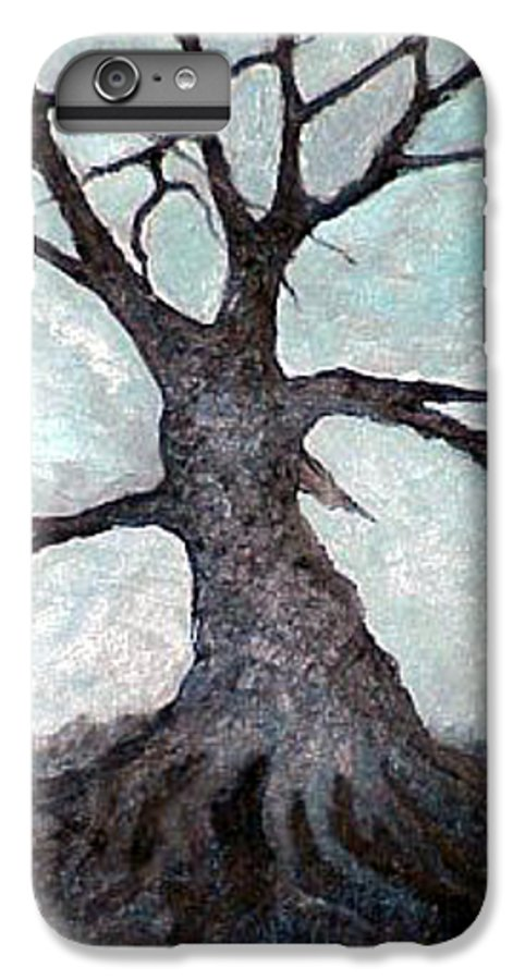 Landscape IPhone 6 Plus Case featuring the painting Old Tree by Sergey Bezhinets