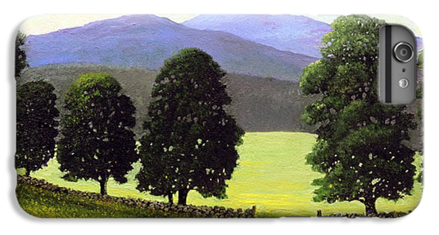 Landscape IPhone 6 Plus Case featuring the painting Old Wall Old Maples by Frank Wilson