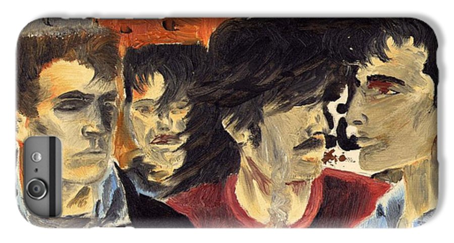 Eighties IPhone 6 Plus Case featuring the painting On The Street by Alan Hogan