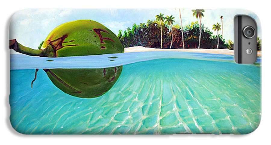 Coconut IPhone 6 Plus Case featuring the painting On The Way by Jose Manuel Abraham