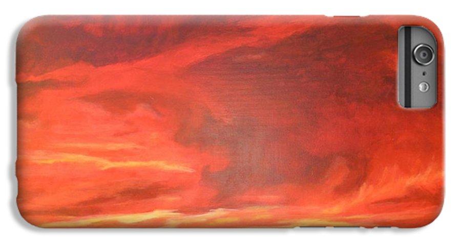Western IPhone 6 Plus Case featuring the painting One Last Look by Janis Mock-Jones
