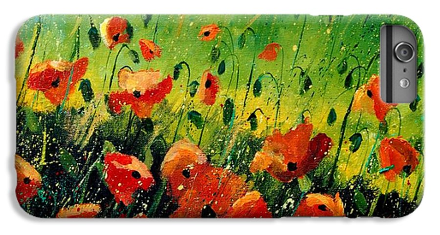 Poppies IPhone 6 Plus Case featuring the painting Orange Poppies by Pol Ledent