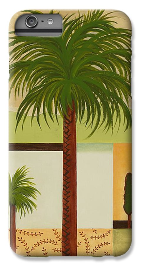Palm Trees IPhone 6 Plus Case featuring the painting Palm Desert by Carol Sabo