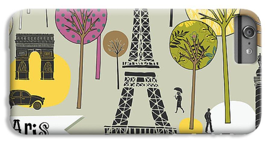 Typography IPhone 6 Plus Case featuring the digital art Paris France Art Print by Lavandaart