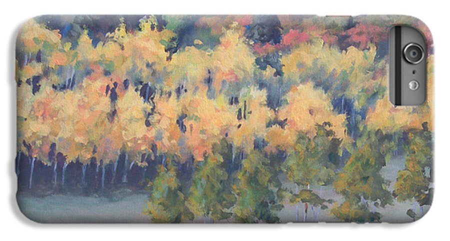 Landscape IPhone 6 Plus Case featuring the painting Park City Meadow by Philip Fleischer
