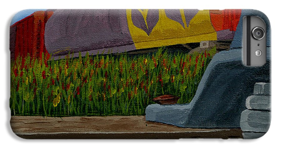 Train IPhone 6 Plus Case featuring the painting Passing The Wild Ones by Anthony Dunphy