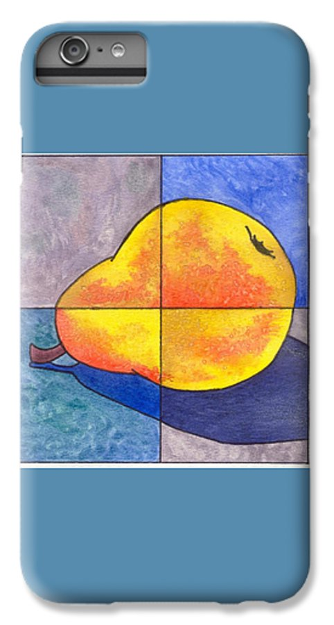 Pear IPhone 6 Plus Case featuring the painting Pear I by Micah Guenther