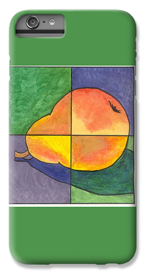 Pear IPhone 6 Plus Case featuring the painting Pear II by Micah Guenther