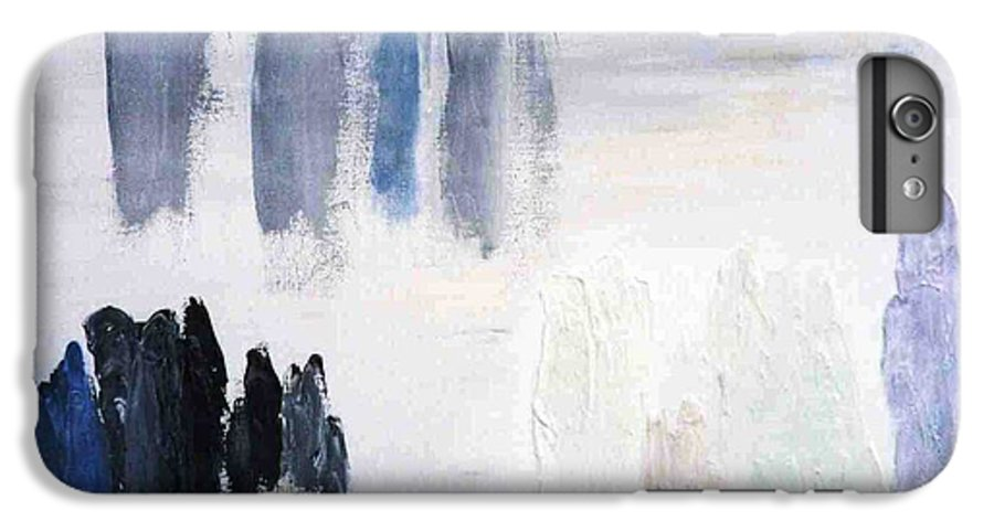 White Landscape IPhone 6 Plus Case featuring the painting People Come And They Go by Bruce Combs - REACH BEYOND