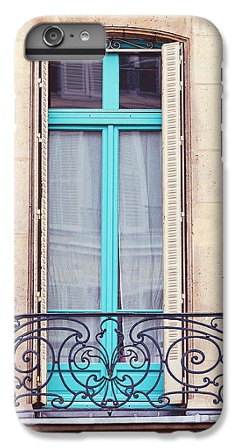 Paris IPhone 6 Plus Case featuring the photograph Petit - Parisian Balcony by Melanie Alexandra Price