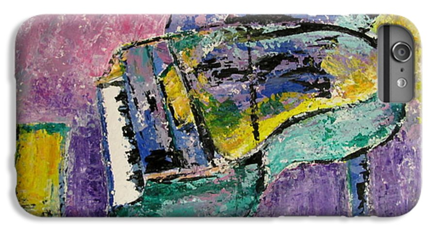 Impressionist IPhone 6 Plus Case featuring the painting Piano Green by Anita Burgermeister