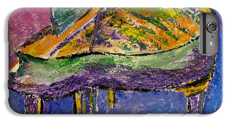 Impressionist IPhone 6 Plus Case featuring the painting Piano Purple by Anita Burgermeister