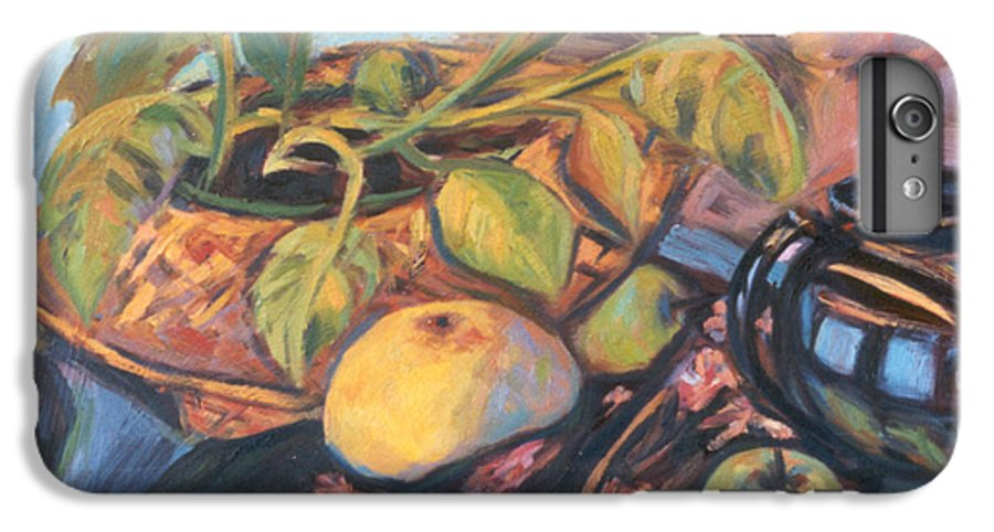 Still Life IPhone 6 Plus Case featuring the painting Pollys Plant by Kendall Kessler