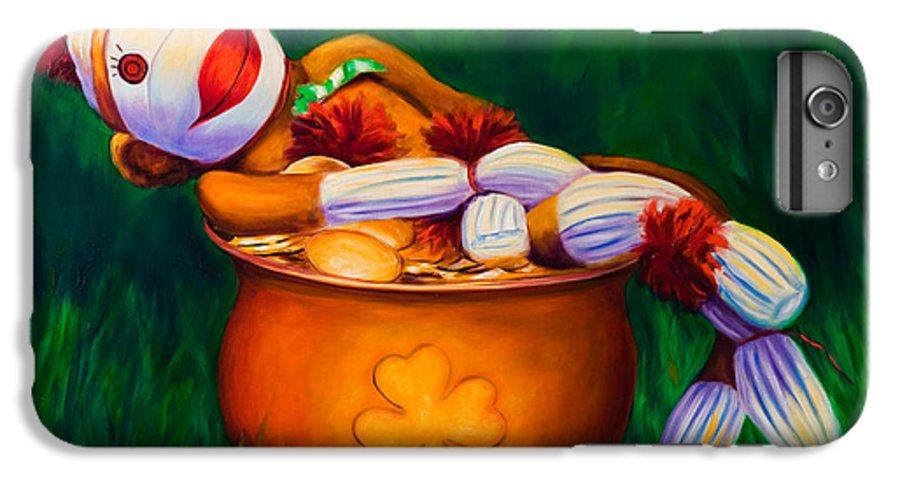 St. Patrick's Day IPhone 6 Plus Case featuring the painting Pot O Gold by Shannon Grissom