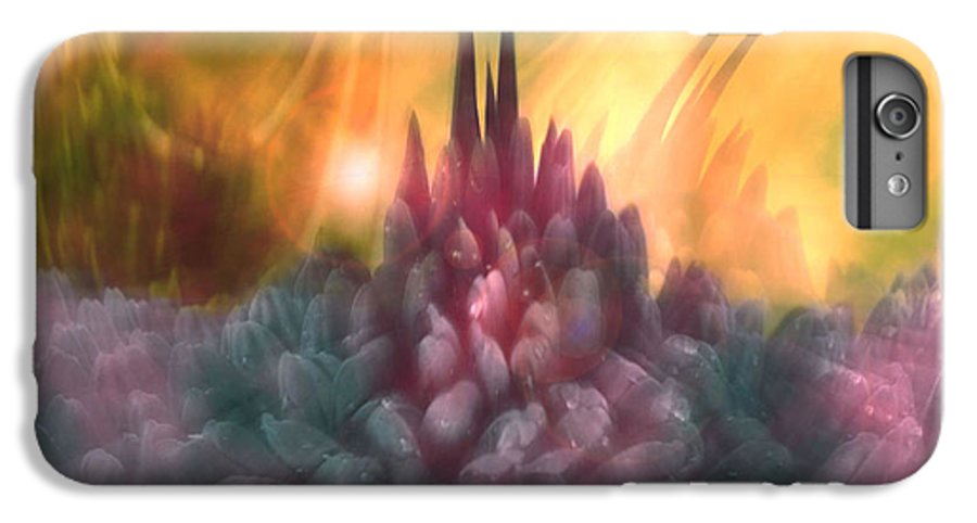 Abstract IPhone 6 Plus Case featuring the digital art Psychedelic Tendencies  by Linda Sannuti