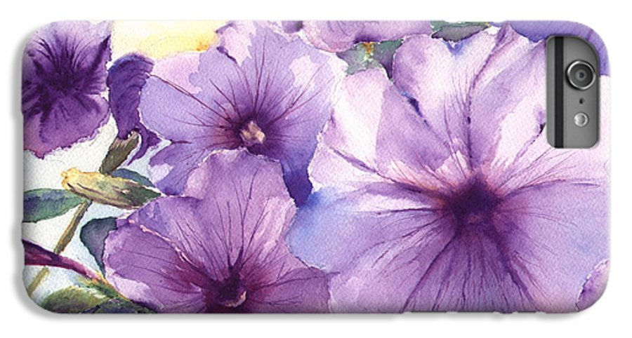 Purple IPhone 6 Plus Case featuring the painting Purple Profusion by Patricia Henderson