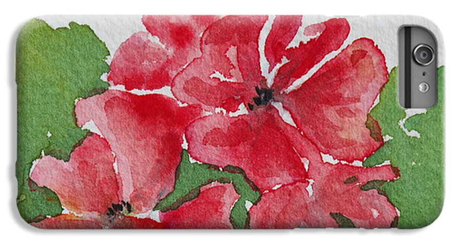 Floral IPhone 6 Plus Case featuring the painting Pzzzazz by Mary Ellen Mueller Legault