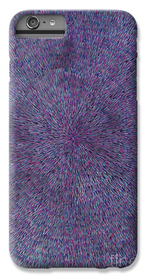 Abstract IPhone 6 Plus Case featuring the painting Radiation Violet by Dean Triolo