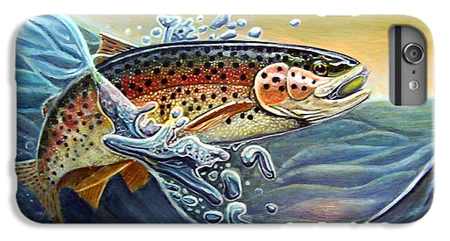 Rick Huotari IPhone 6 Plus Case featuring the painting Rainbow by Rick Huotari