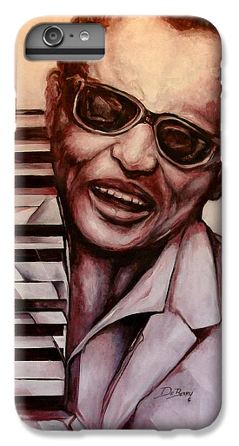 Original Fine Art By Lloyd Deberry IPhone 6 Plus Case featuring the painting Ray The Print by Lloyd DeBerry