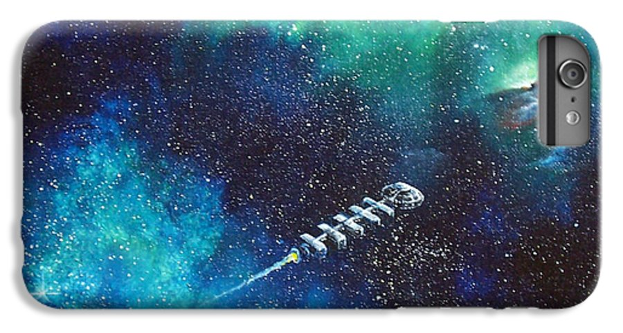 Spacescape IPhone 6 Plus Case featuring the painting Reaching Out by Murphy Elliott