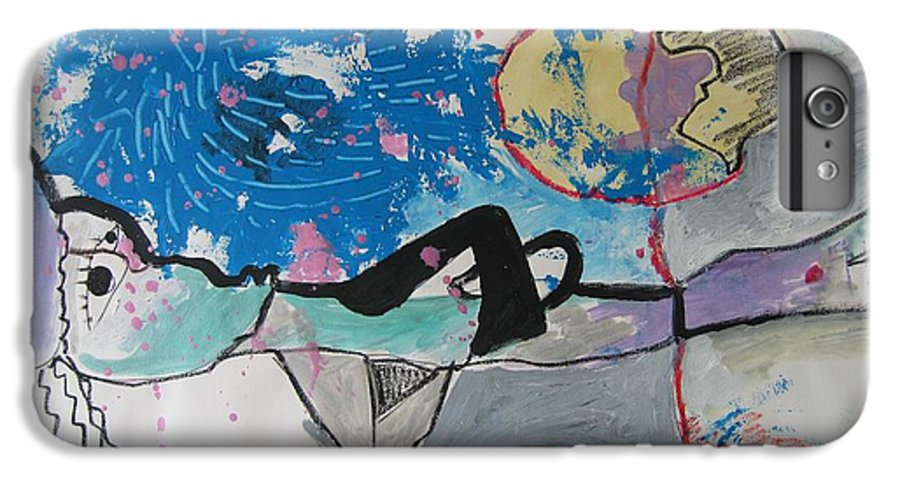 Abstract Paintings IPhone 6 Plus Case featuring the painting Read My Mind2 by Seon-Jeong Kim