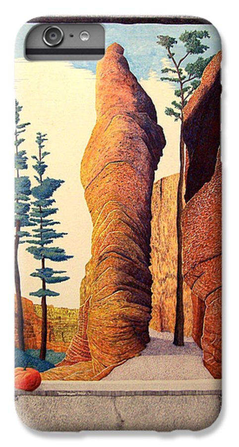 Landscape IPhone 6 Plus Case featuring the painting Reared Window by A Robert Malcom