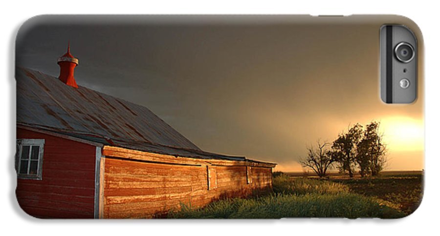 Barn IPhone 6 Plus Case featuring the photograph Red Barn At Sundown by Jerry McElroy