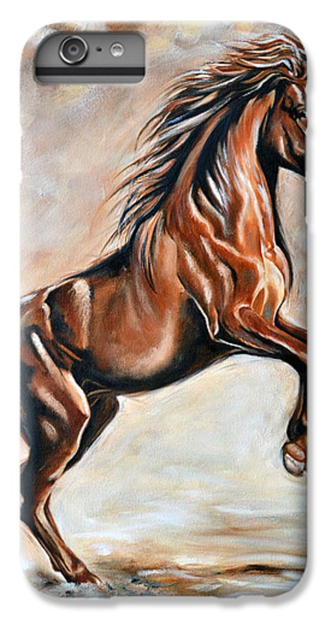 Horse IPhone 6 Plus Case featuring the painting Red Beauty by Ilse Kleyn