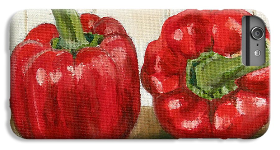 Food IPhone 6 Plus Case featuring the painting Red Pepper by Sarah Lynch