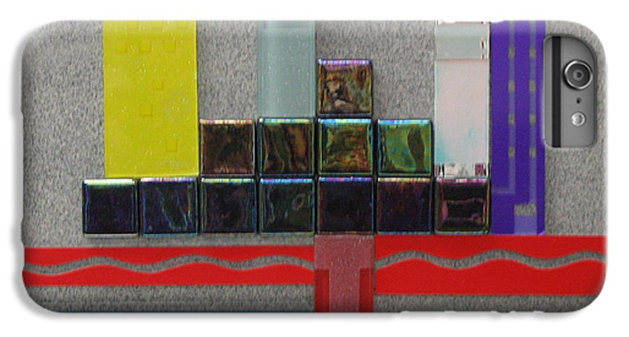 Assemblage IPhone 6 Plus Case featuring the relief Red River City by Elaine Booth-Kallweit