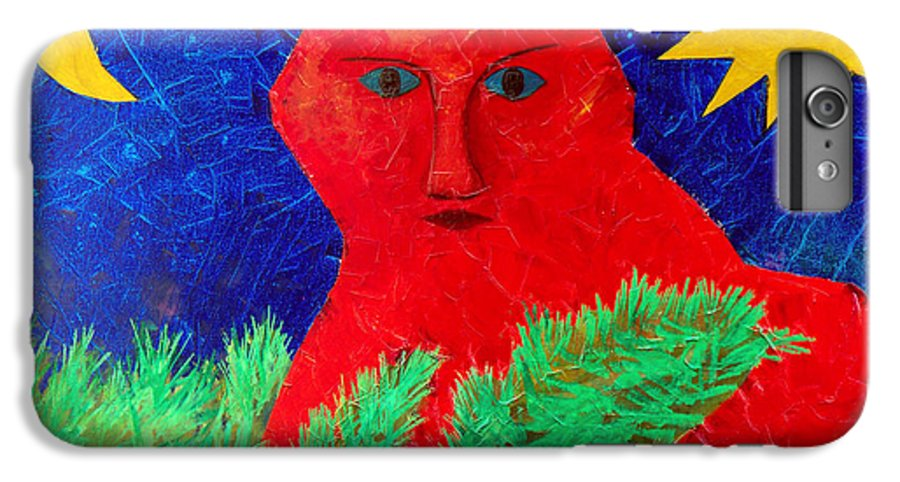 Fantasy IPhone 6 Plus Case featuring the painting Red by Sergey Bezhinets