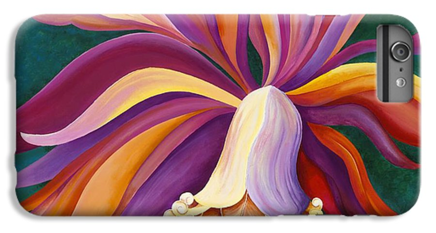Orchid IPhone 6 Plus Case featuring the painting Ribbon Orchid by Carol Sabo