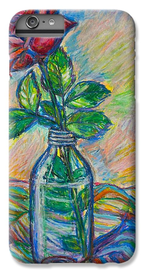 Still Life IPhone 6 Plus Case featuring the painting Rose In A Bottle by Kendall Kessler