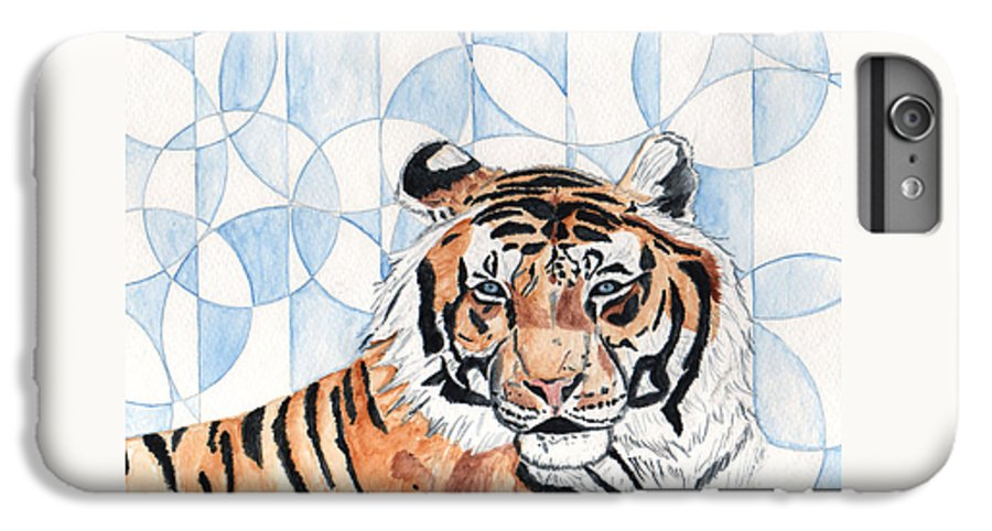 Tiger IPhone 6 Plus Case featuring the painting Royal Mysticism by Crystal Hubbard