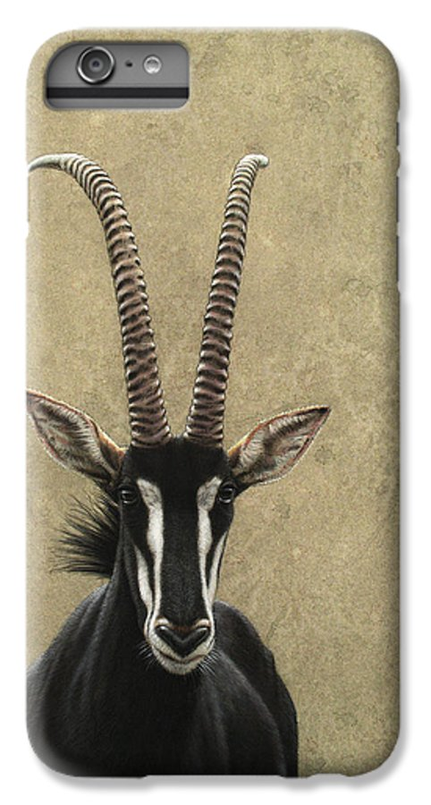 Sable IPhone 6 Plus Case featuring the painting Sable by James W Johnson