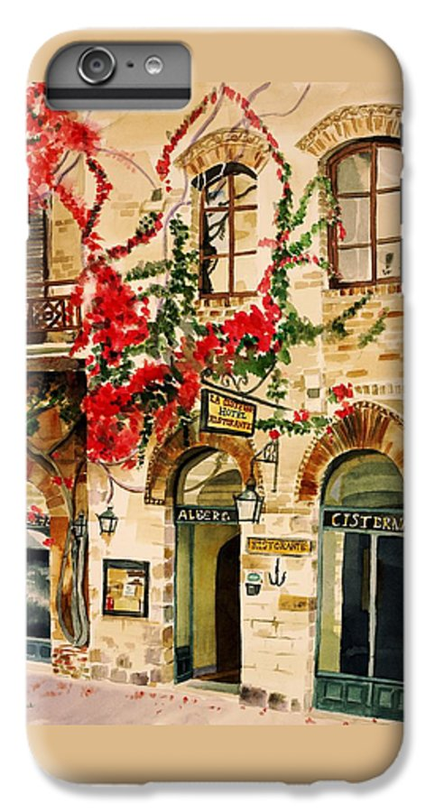Award-winning IPhone 6 Plus Case featuring the painting San Gimignano by Judy Swerlick