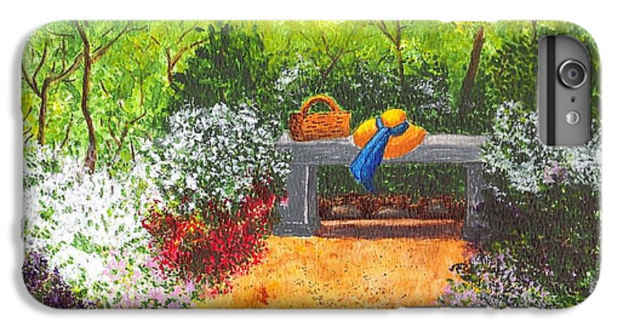 Garden Painting IPhone 6 Plus Case featuring the painting Sanctuary by Patricia Griffin Brett