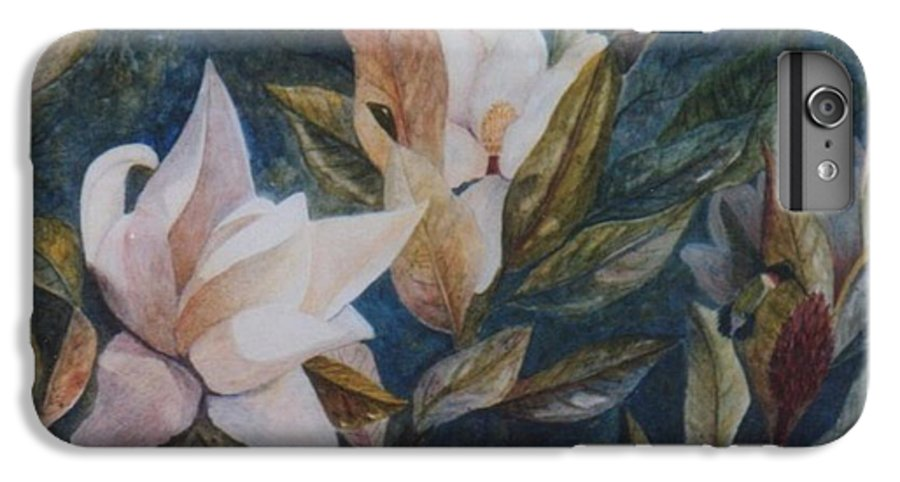 Magnolias; Humming Bird IPhone 6 Plus Case featuring the painting Serenity by Ben Kiger
